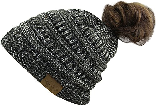 Lamdgbway Frauen Stricken Hut Winter Mütze Strickmütze