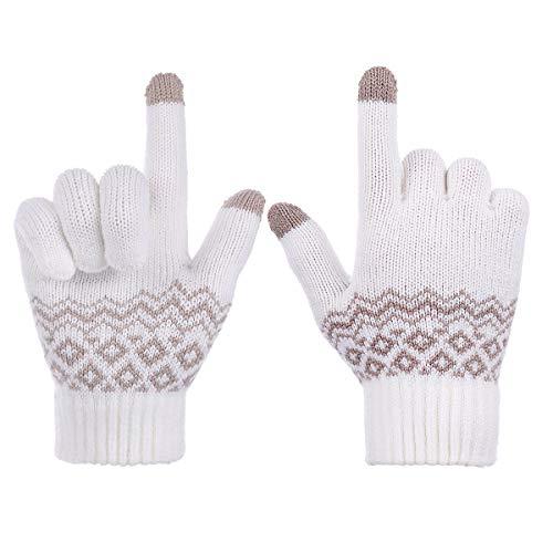 9568d9bc9e7453 Sholov Handschuhe Winterhandschuhe Touchscreen Handschuhe Damen Gestrickte Warme  Handschuhe Winter Spazieren Wandern Arbeiten Freizeit Warmes ...