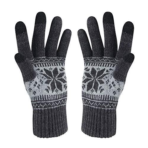 bb2466aac4aa99 VENI MASEE Kerstmis Lover Snowprint Keep Warm Iphone Touch Screen  handschoenen