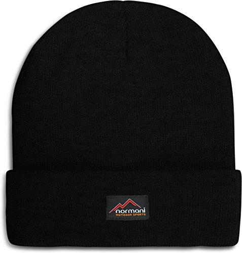 1a70c7a00d6600 normani Wasserabweisende Wintermütze bis -30°C Kälte getestet wählbar One  Size,Schwarz Farbe Schwarz
