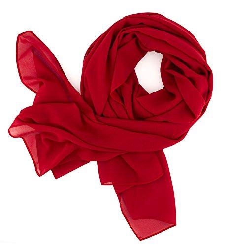 afdc71b2b052b9 DOLCE ABBRACCIO SWEET LOVE Damen Schal Stola Halstuch Tuch aus Chiffon für  Frühling Sommer Ganzjährig
