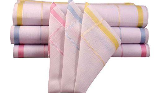 100% Baumwolle in verschiedenen Designs Design NG22 – NG Selection – 6 x Damen Stoff-Taschentücher Set 29×29 cm