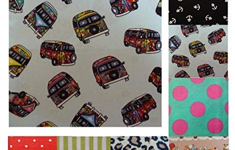 Blaues Stofftaschentuch VW Bus Bully Kinder Damen Herren blau pink grün blau gelb – Unique Boutique