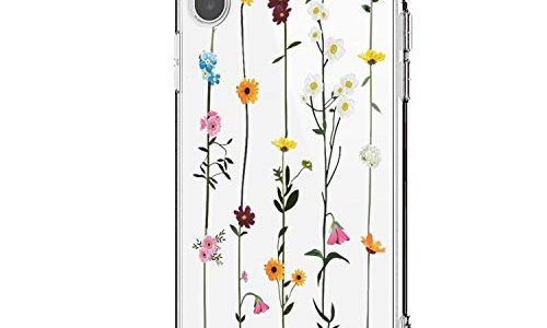 Riyeri Hülle Compatible with Apple iPhone Xr Hülle Cover iPhone Xs Handyhülle Schutzhülle Transparent Blume Muster Weich TPU Silikon Case für Apple iPhone Xs Max Mobile Phone iPhone X, 26