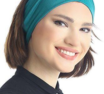 Deresina Headwear Baumwolle Stirnband für Dammen Frauen 12,5cm – Extra Wide Jadegrün