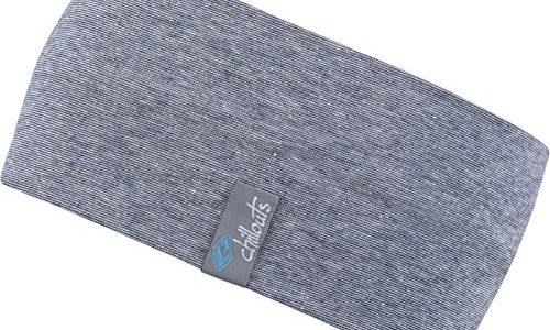 Feinzwirn Kopfband Haarband Stirnband in vielen Farben für Freizeit Sport doppellagig blau-Melange