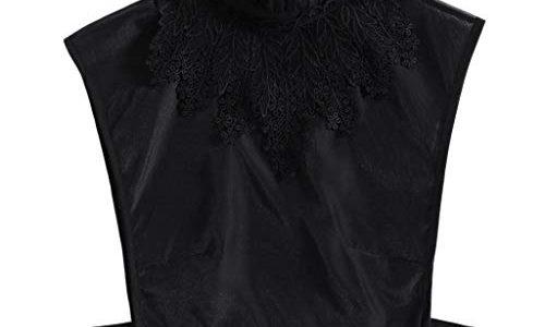 Tandou Fake Kragen Abnehmbare Blusenkragen Krageneinsatz Damen Schwarz