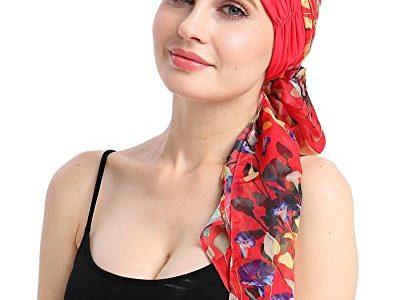 FocusCare Bambus strickt Hut für Krebs Frauen DIY einfach Krawatte Chemo Kopftuch