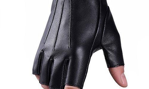 Winter Echtes Leder Fingerlose Handschuhe Fuxury Wolle Touchscreen Texting Kleid Fahrhandschuh für Männer Frauen M