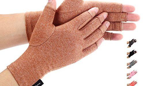 Compression Handschuhe f¨¹r Rheumatoide & Osteoarthritis – Duerer Arthritis Handschuhe – Handschuhe bieten arthritische Gelenkschmerzen Linderung der Symptome – M?nner und FrauenBrown, M