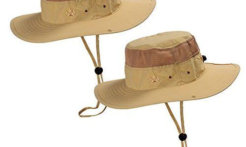 Ideal auch als Safarihut, Sonnenhut, Gartenhut, Campinghut für Damen, Herren, Kinder Khaki – The Friendly Swede 2 Stück Outdoor Buschhüte mit Kinnband