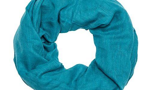 MANUMAR Loop-Schal für Damen einfarbig   feines Hals-Tuch in petrol als perfektes Frühling Sommer Accessoire   Schlauch-Schal   Damen-Schal   Rund-Schal   Geschenkidee für Frauen und Mädchen