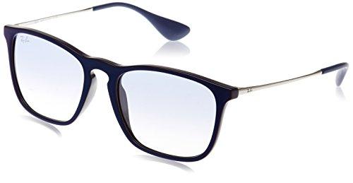 Ray-Ban RAYBAN Unisex-Erwachsene Sonnenbrille 4187 Shiny Mirror Blu/Cleargradientlightblue, 54