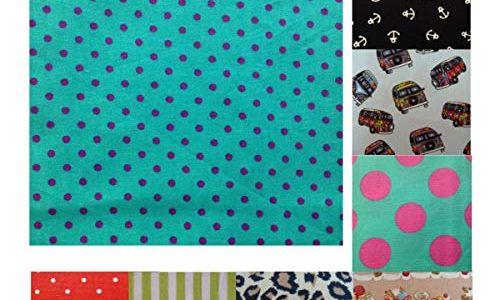 Unique Boutique – Ein Gepunktetes Stofftaschentuch türkis pink Herren Damen kleine Punkte Taschentuch Einstecktuch
