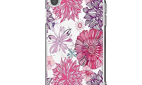 Riyeri Hülle Compatible with Apple iPhone Xr Hülle Cover iPhone Xs Handyhülle Schutzhülle Transparent Blume Muster Weich TPU Silikon Case für Apple iPhone Xs Max Mobile Phone iPhone X, 14