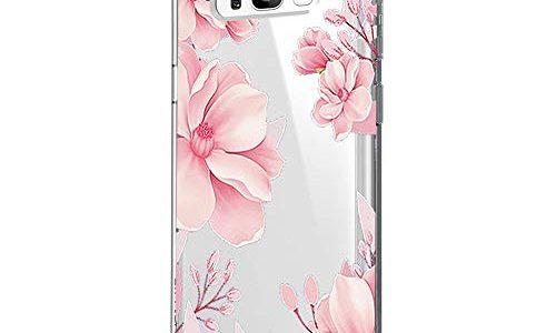 Blume S8, 16 – Riyeri Hülle Compatible with Samsung Galaxy S8 Plus Hülle Cover Klar Slim Fit TPU Silikon Bumper Handyhülle für Samsung S8 Phone