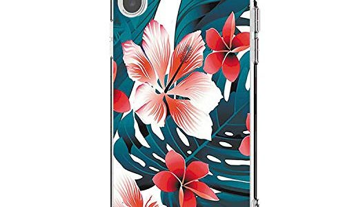 Riyeri Hülle Compatible with Apple iPhone Xr Hülle Cover iPhone Xs Handyhülle Schutzhülle Transparent Blume Muster Weich TPU Silikon Case für Apple iPhone Xs Max Mobile Phone iPhone X, 13