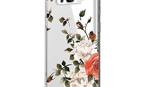 Blume S8, 8 – Riyeri Hülle Compatible with Samsung Galaxy S8 Plus Hülle Cover Klar Slim Fit TPU Silikon Bumper Handyhülle für Samsung S8 Phone