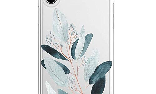 Blume iPhone Xs Max, 5 – Riyeri Hülle Compatible with Apple iPhone Xs Schutzhülle Transparent TPU Weich iPhone Xr Silikon Tasche Kratzfest Handy Hülle für iPhone Xs Max Mobile Phone