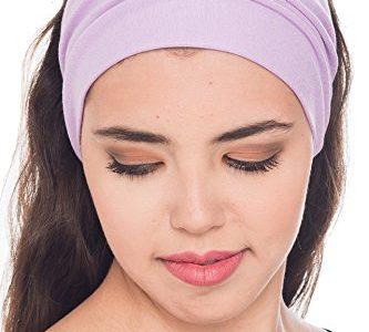 Baumwolle Stirnband für Dammen Frauen Lilac – 3pieces