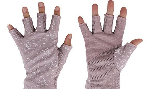 Damen Sommer Halbfinger Handschuhe Baumwolle Fahrradhandschuhe Kurz Spitzenhandschuhe Anti-Rutsch, Anti-UV Schutz, Dünn Sonnenschutz Fäustlinge Gloves für Fahren Golf Outdoor Motorrad Radfahren