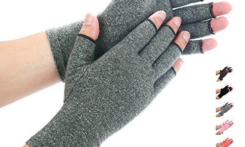 Compression Handschuhe f¡§1r Rheumatoide & Osteoarthritis – Handschuhe bieten arthritischen Gelenkschmerzen Linderung der Symptome – M?nner und FrauenGray, XL – Duerer Arthritis Handschuhe