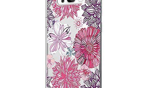 Riyeri Hülle Compatible with Samsung Galaxy S8 Plus Hülle Cover Klar Slim Fit TPU Silikon Bumper Handyhülle für Samsung S8 Phone – Blume S8, 12