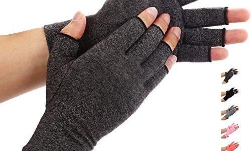 Arthritis-Handschuhe von Duerer, Kompressionshandschuhe für RSI, Karpaltunnel, Rheuma, Sehnenscheidenentzündung, offene Fingerspitzen; Größe Schmerzlinderung, Damen, Herren Schwarz X-Larg