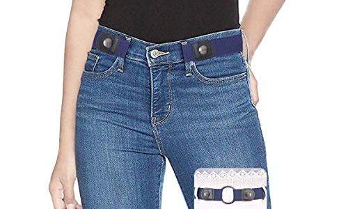 SUOSDEY Elastischer Gürtel Damen Herren Stretchgürtel Damen Unsichtbarer Gürtel Ohne Schnalle Für Jeans Hosen Taillen Gürtel Damen keine Schnalle
