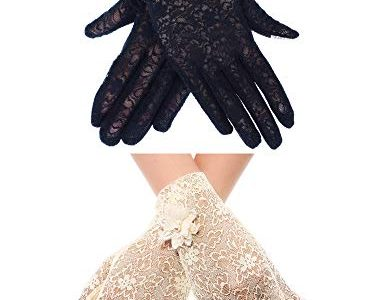 Chuangdi 2 Paar Sommer Frauen Spitze Baumwolle Kurze Screentouch Handschuhe Sun UV Schutz Damen Handschuhe Farbe Satz 2