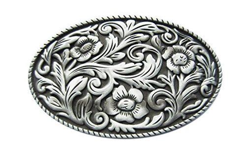 Gürtelschnalle Western Texas Cowboy Blume 3D Optik für Wechselgürtel Gürtel Schnalle Buckle Modell 104 – Schnalle123