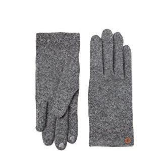ESPRIT edc by Accessoires Damen 107CA1R005 Handschuhe, Grau Grey 030, One Size