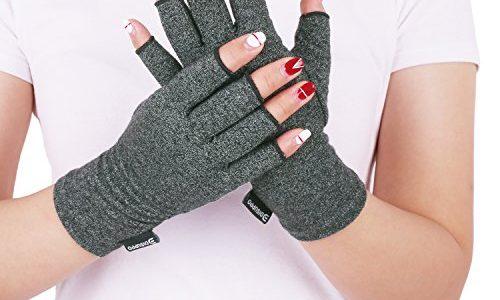 Rheumatische Arthritis Kompressionshandschuhe für Schmerzlinderung, Gaming Tippen, Fingerlose Handschuhe für Männer und Frauen – DISUPPO Arthritis Handschuhe Paar