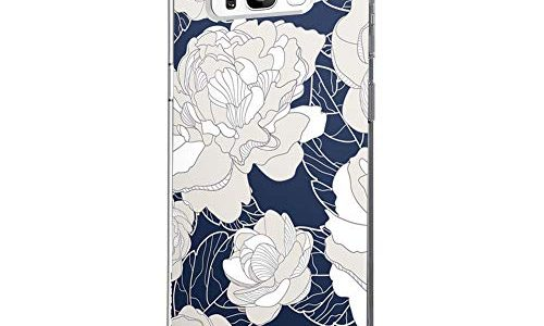 Marmor & Blume S8, 10 – Riyeri Hülle Compatible with Samsung Galaxy S8 Hülle Klar Slim TPU Silikon Bumper Handyhülle für Samsung S8 Plus
