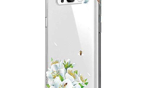 Blume S8, 1 – Riyeri Hülle Compatible with Samsung Galaxy S8 Plus Hülle Cover Klar Slim Fit TPU Silikon Bumper Handyhülle für Samsung S8 Phone
