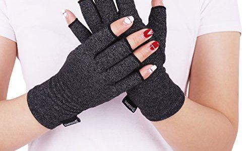 DISUPPO Arthritis Handschuhe Paar – Rheumatische Arthritis Kompressionshandschuhe für Schmerzlinderung, Gaming Tippen, Fingerlose Handschuhe für Männer und Frauen