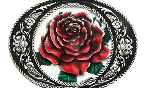 Gürtelschnalle Western Rose Cowboy Blume 3D Optik für Wechselgürtel Gürtel Schnalle Buckle Modell 170 – Schnalle123