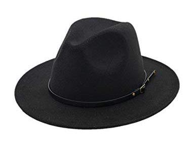 Fedora Hut mit breiter Krempe Filzhut Outdoorhut – besbomig Damen Herrenhüte Winter Mode Filzhut Winterhut Wintermütze