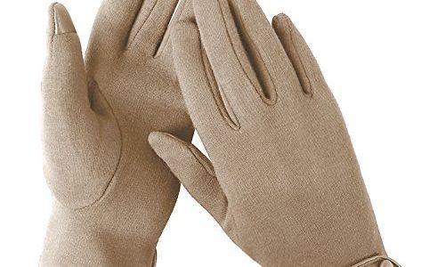 Aibrou Touchscreen Handschuhe Damen Winterhandschuhe Fahrradschuhe Frauen Handschuhe Winter Warm Handschuhe mit Fleecefutter in Rot, Schwarz und Grau Khaki-1, Normal
