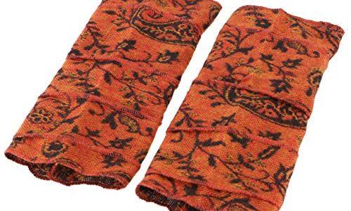 Guru-Shop Patchwork Handstulpen, Ethno Goa Armstulpen, Herren/Damen, Orange, Synthetisch, Size:One Size, Handstulpen Alternative Bekleidung