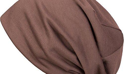 styleBREAKER klassische Slouch Beanie Mütze, leicht, Unisex 04024018, Farbe:Braun