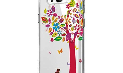 Riyeri Hülle Compatible with Samsung Galaxy S8 Hülle Klar Slim TPU Silikon Bumper Handyhülle für Samsung S8 Plus – Marmor & Blume S8, 30