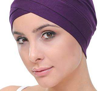 Deresina W Baumwollmütze für Chemo Purple