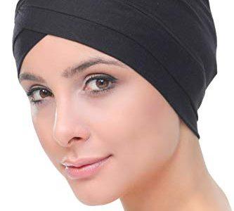 Deresina W Baumwollmütze für Chemo Schwarz