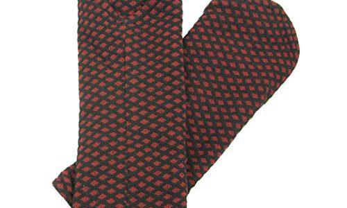 Chapati Damen Pulswärmer zum wenden aus BIO Baumwolle Rauten rot