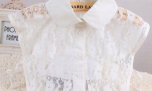 Tandou Fake Kragen Abnehmbare Blusenkragen Krageneinsatz Damen 7#