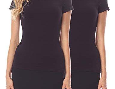 Merry Style Verlängerungsgurt für Hemden T-Shirts 2 Pack MS10-202 2Pack-Schwarz/Schwarz, XXL