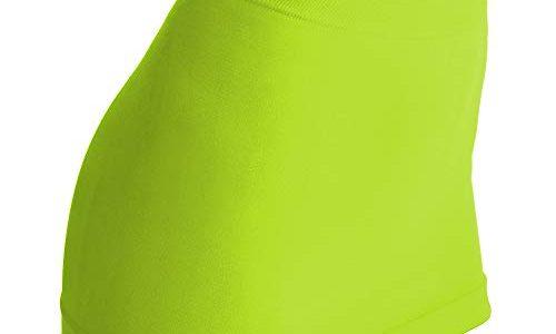 kidneykaren Nierenwärmer Basic- Tube Multifunktion Yogagurt Fitness & Freizeit Green Sulphur neon grün, Größe:M
