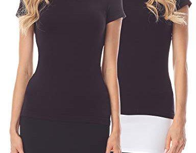 Merry Style Verlängerungsgurt für Hemden T-Shirts 2 Pack MS10-202 2Pack-Schwarz/Weiß, 3XL