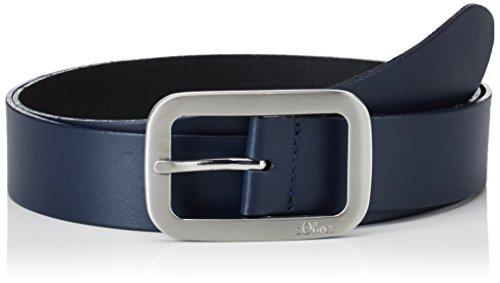 s.Oliver Damen 38899953635 Gürtel, Blau Blue 5884, Herstellergröße:105